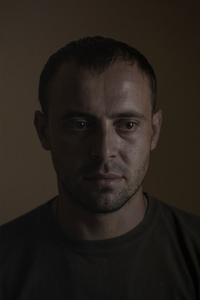 Oleksandr, 30, cook, picture was taken after he spent 11 months in the war zone, June 2015, Ukraine.