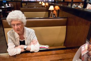 Mom at the Steakhouse