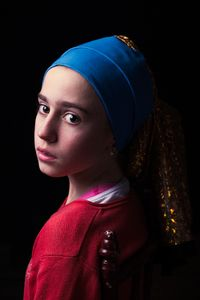 """My daughter Camila as Vermeer's """"Girl with a pearl earring"""""""