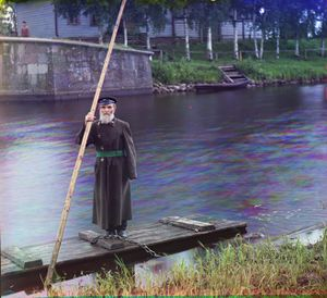 """Pinkus Karlinskii: Eighty-Four Years Old, Sixty-Six Years of Service as Supervisor of the Chernigov Floodgate, Russia, 1909 © Sergei Mikhailovich Prokudin-Gorskii, from the book """"Nostalgia"""". Images courtesy US Library of Congress and Gestalten publishers, Berlin."""