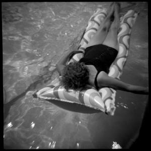 Woman on a Raft, Calistoga, CA