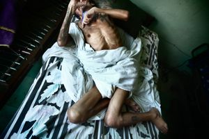 Carlos died from AIDS in a safe home Oasis in Conkal, Mexico. © Meeri Koutaniemi