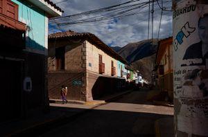 The streets of Calca, Peru