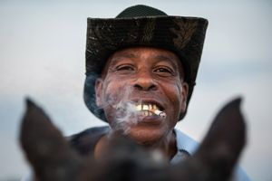James, a Smoking Delta Cowboy With a Golden Grill