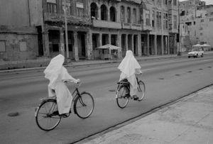 Nuns, Cuba,  Havanna, Kuba,   January 1996