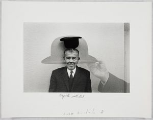 Duane Michals; Magritte with Hat, 1965 © Duane Michals; The Henry L. Hillman Fund. Courtesy of Carnegie Museum of Art, Pittsburgh