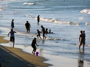 Bathers, Nantasket Beach, Hull, MA
