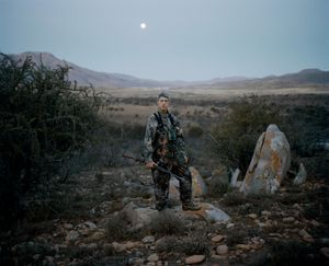 untitled hunter # I at dusk, eastern cape, south africa-from the series 'hunters'-David Chancellor