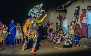 Chhau dance ... its entertaining time in the evening, after a busy work day.