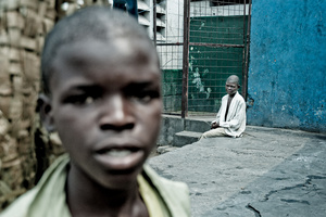 In the streets of Kinshasa, capital of the Democratic Republic of the Congo