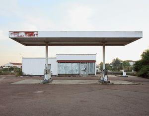 """Station #13, from """"Twentysix Abandoned Gasoline Stations"""" © Eric Tabuchi"""