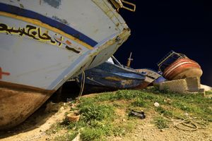 On Sept 1st, 2007 a Boat capsizes 15 miles off the island of Currents, in Pachino (Syracuse), 1 dead and 3 missing © Massimo Cristaldi
