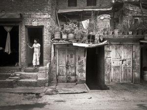 Woman in a doorway, Jawalakhel, Kathmandu