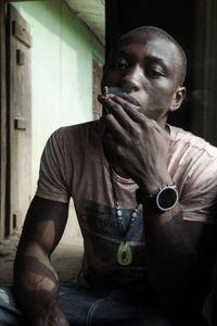 Mohamed smoking