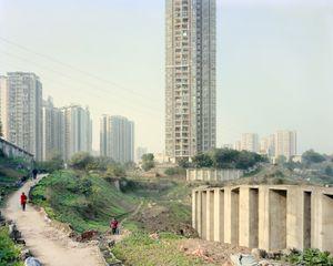 Agriculture urbaine et urbanisation. District de Nan'an, Chongqing. Chine, Décembre 2017.