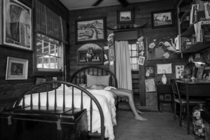 Lying on Bunkhouse Bed