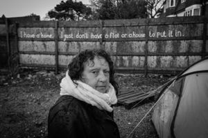 The first person to arrive on site was Mary. She had become homeless due to a violent relationship.