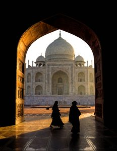 Gateway to the Taj Mahal.