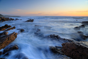 Blue / One of my favorite spots on the Atlantic Ocean, Cape Peninsula. A long exposure of rocks and waves at sunset.