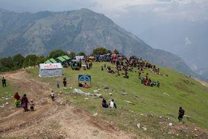 A meeting location for aid distribution.  Laprak.