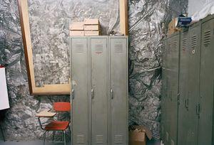 Framed mine photography / office, Brady's Bend, Pennsylvania, USA 2006 © Wayne Barrar