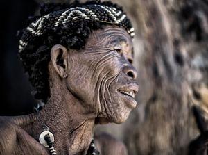 San tribe elder woman