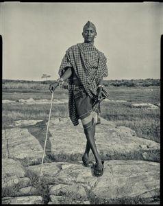 Samburu goatherder, Kenya