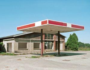 """Station #10, from """"Twentysix Abandoned Gasoline Stations"""" © Eric Tabuchi"""