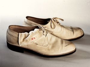 """Franco´s """"Segarra"""" shoes. From the Spanish Army Museum."""