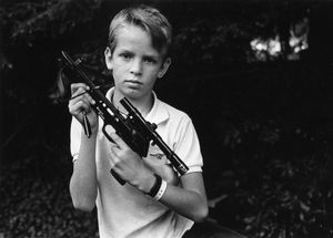Pre-teen boy with lethal crossbow, Northern California