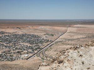 Border Wall between New Mexico and Chihuahua