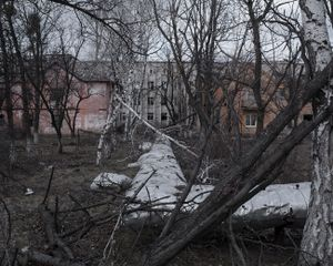 Psychiatric hospital in Semenivka, ATO zone  (war zone), Ukraine, March 2015.