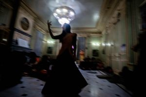 The temple room kirtans during the Radhadesh Mellows festival are renowned for their vigorous dancing