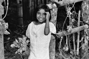 School girl in Ruteng, 1973