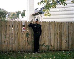 "Sharrod (salute). From the series ""I slowly watched him disappear"" © Jason Hanasik"