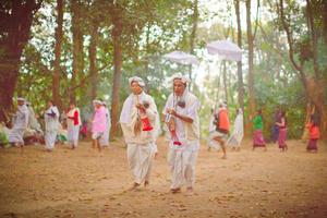 The Pena Khongba musicians play during Lai Haraoba.