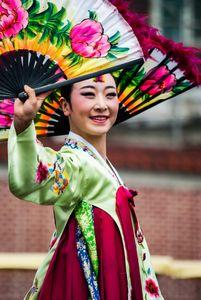 South Korean Fan Dancer