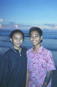 Young couple on kuta beach.