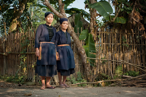 Tay mother and daughter in Ha Giang Province