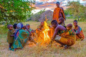 Women's Fire at Sunrise