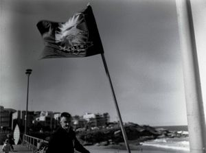 The flag at the surfing