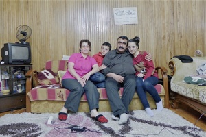 Primary school teacher and Laz language teacher Ali Gümüş at his home in Arhavi city center.