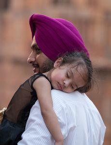 Gesichter Indiens - Sikh-Papa