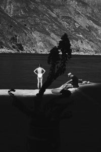 Couple waiting for the ferryman