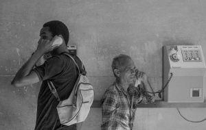 Telefon,  Cuba , Santiago de Cuba, Kuba,  January 1996