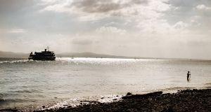 Departing Ferry   © Seán Duggan