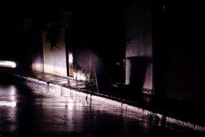 Dimly lit alley