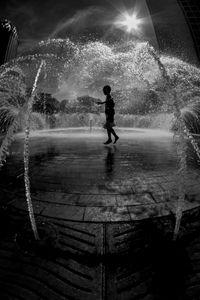 Fun at the Fountain, Boston.