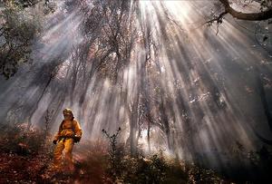 Smoky wildfire