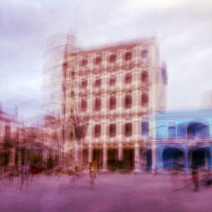Slow Shutter Image of a Square in Old Havana